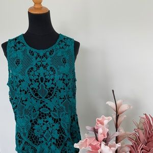 James Coviello by Anthropologie lace top size M